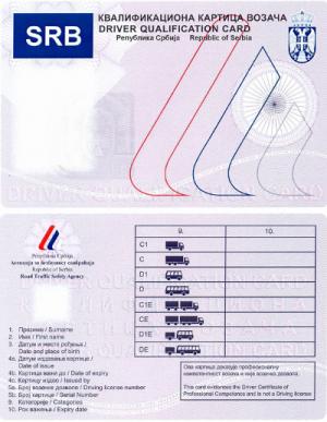 kvalifikaciona kartica vozaca