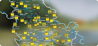Mapa Auto Moto Savez Srbije